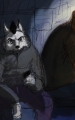 Wolf und Baer Chillen Sitzen auf Treppen_11.jpg